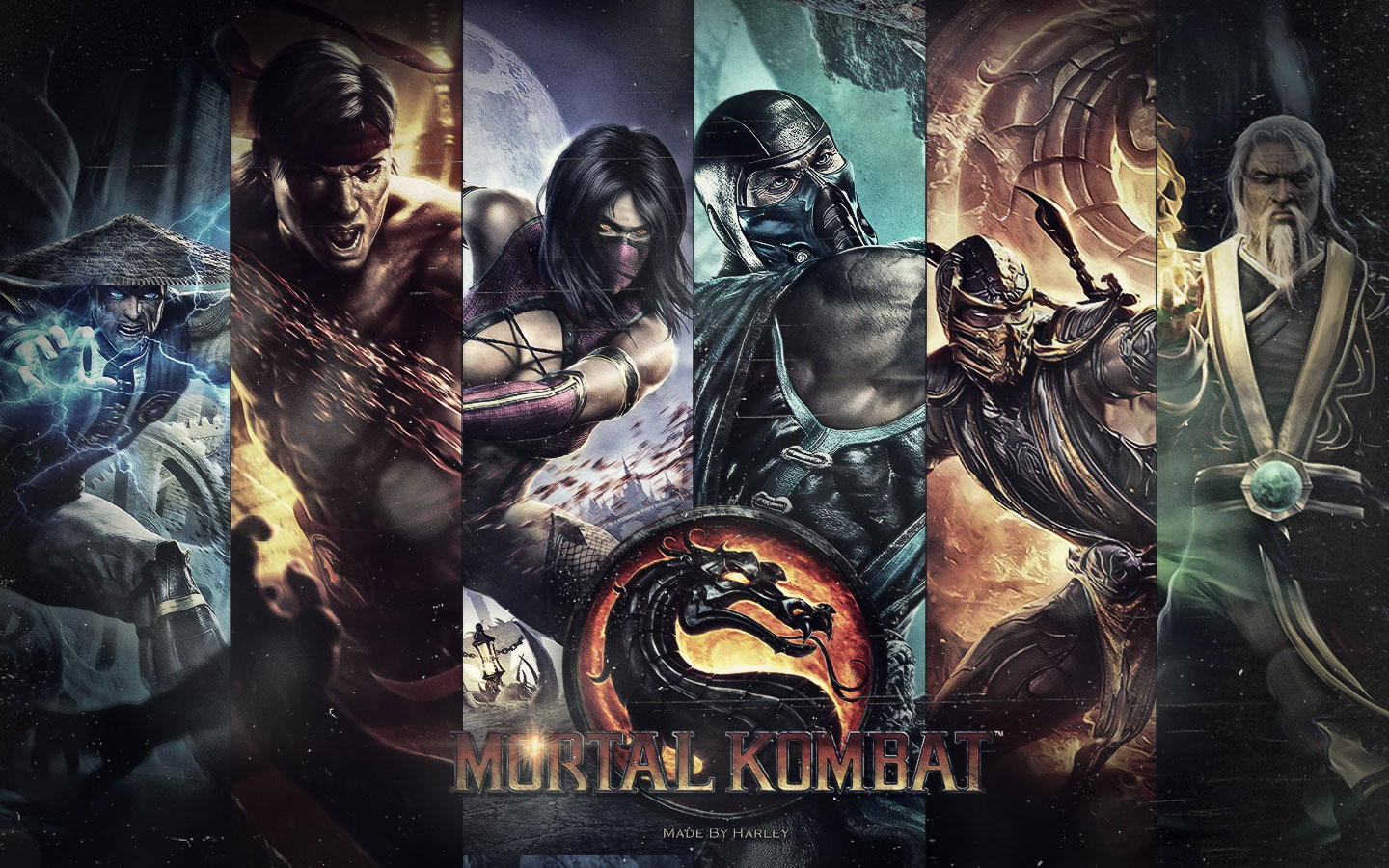 Games Wallpapers   Mortal Kombat Chars Mix 1440x900 wallpaper 1440x900