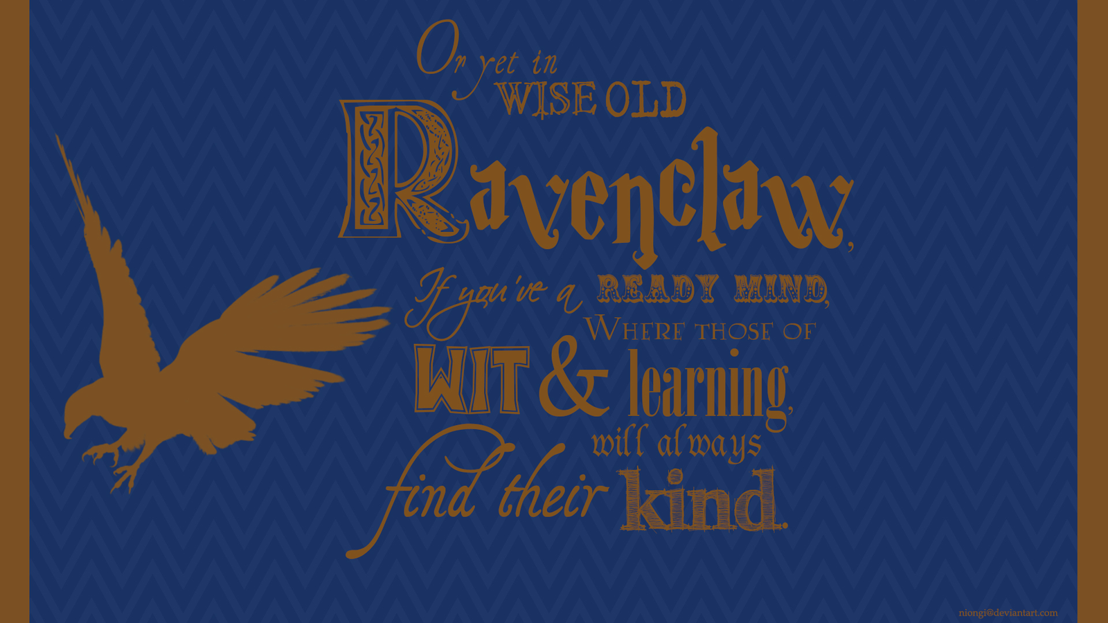 Ravenclaw Wallpaper by Niongi 1600x900