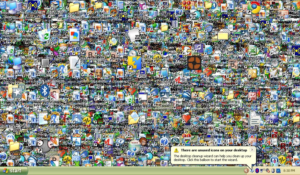 Porn icons on desktop