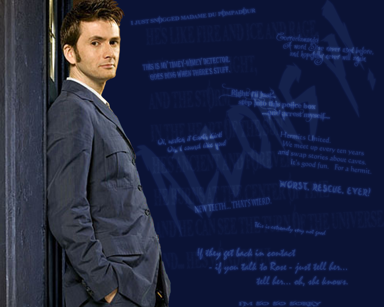Free Download Doctor Who Wallpaper David Tennant Quote 30 Doctor