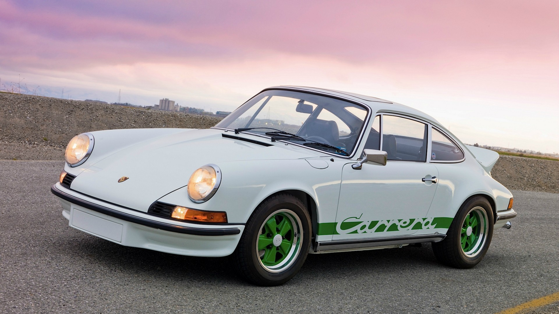 Porsche 911 classic cars headlights carrera rs wallpaper 1920x1080