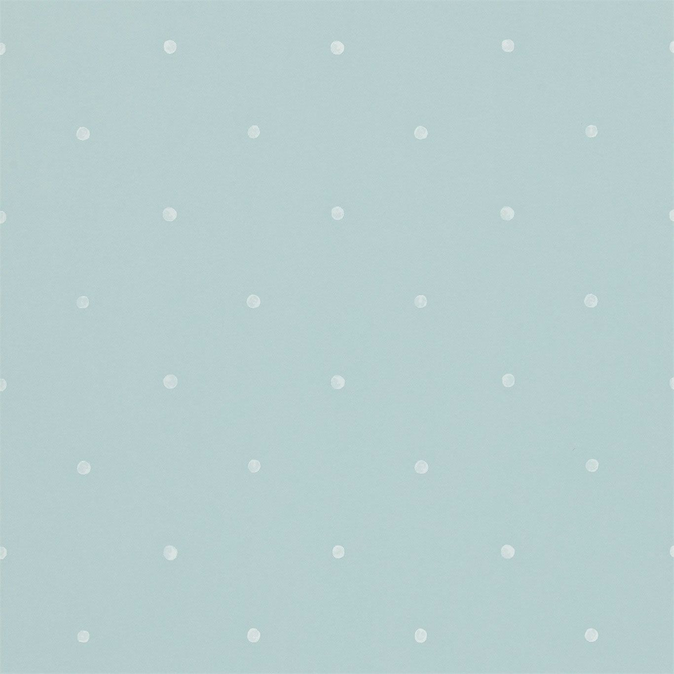 Blue Cream   212846   Polka   Dots   Madison   Sanderson Wallpaper 1366x1366