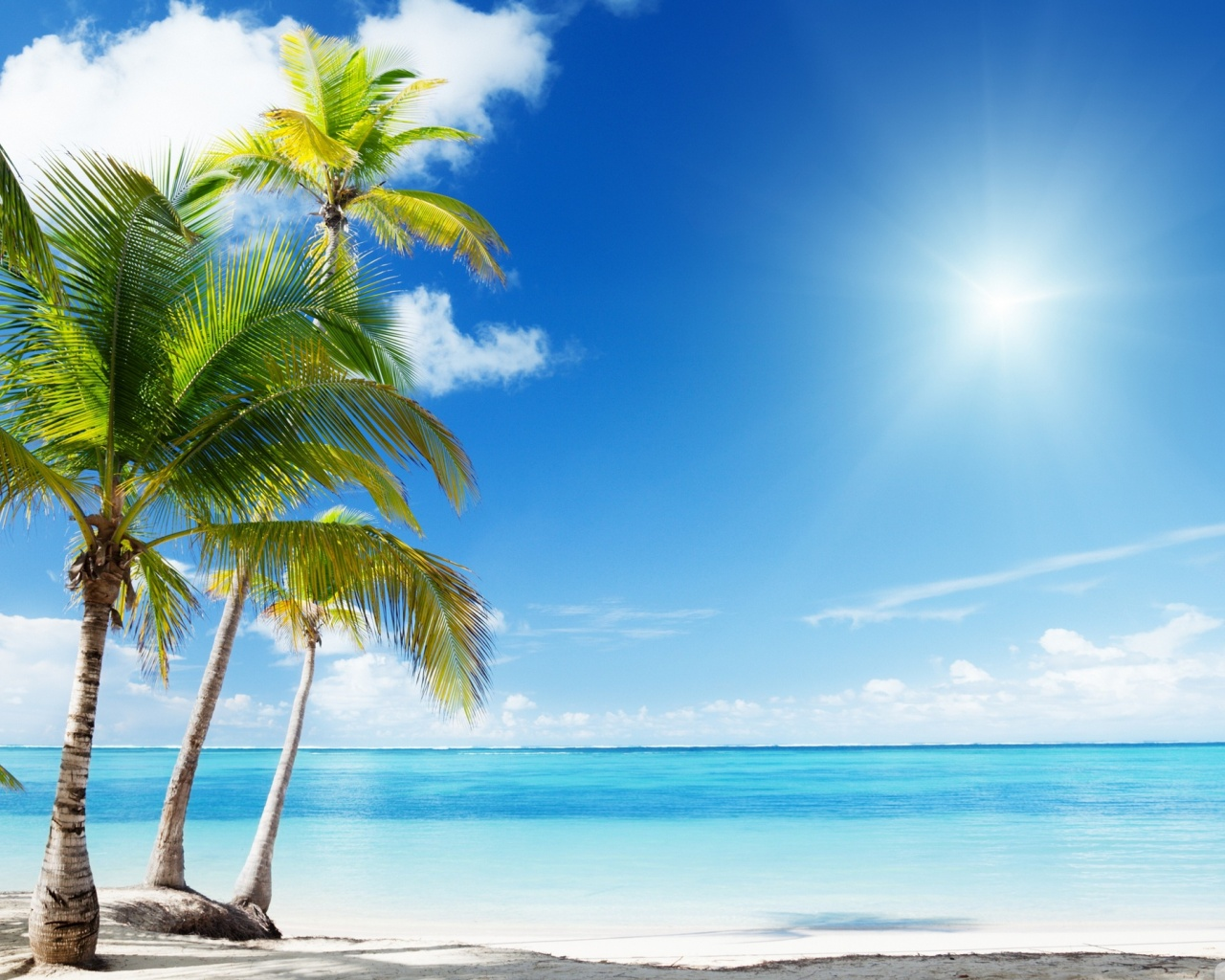 1280x1024 Tropical Beach desktop PC and Mac wallpaper