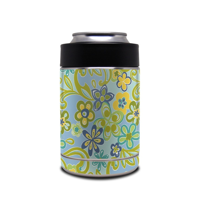 Hippie Flowers Blue Yeti Rambler Colster Skin iStyles 800x800