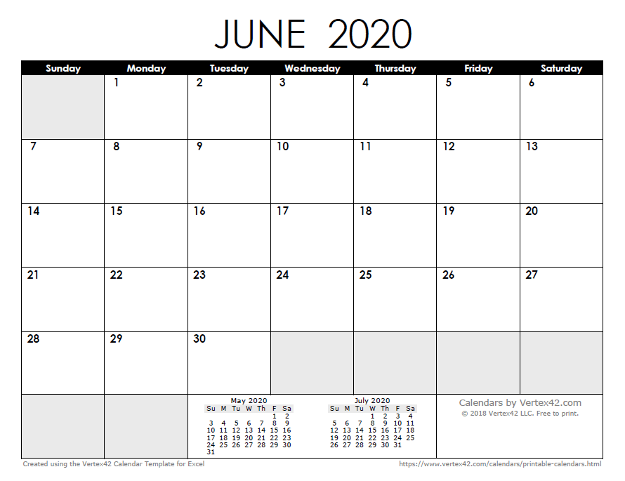 2020 Calendar Templates and Images 890x685