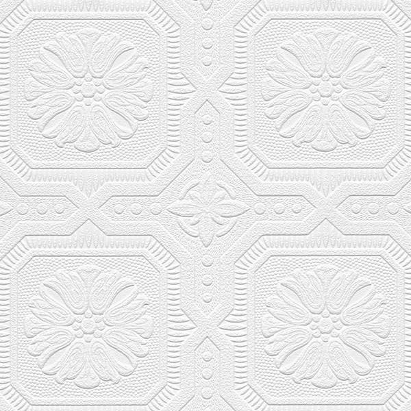 Geometric Tile Paintable Wallpaper 1 Bolt   Modern   Wall Decor   by 600x600