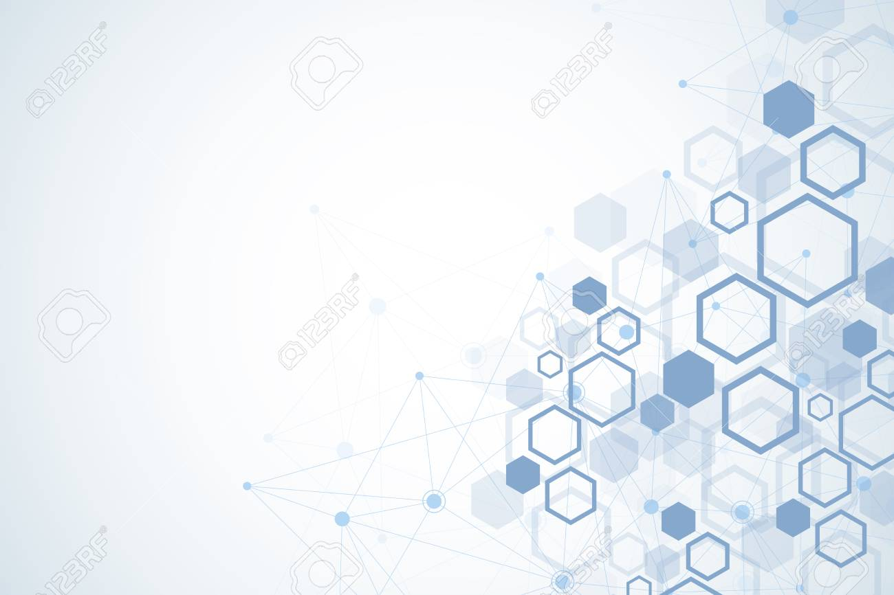 Abstract Medical Background DNA Research Hexagonal Structure 1300x866