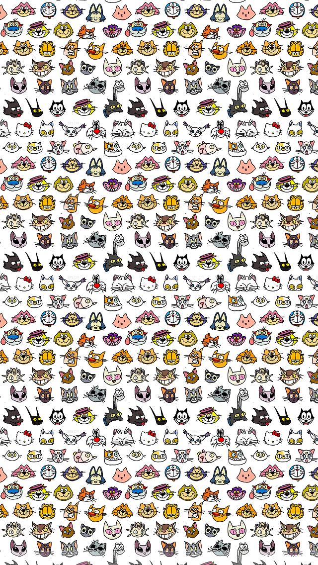 75 cartoon cat wallpaper on wallpapersafari - Cartoon cat background ...