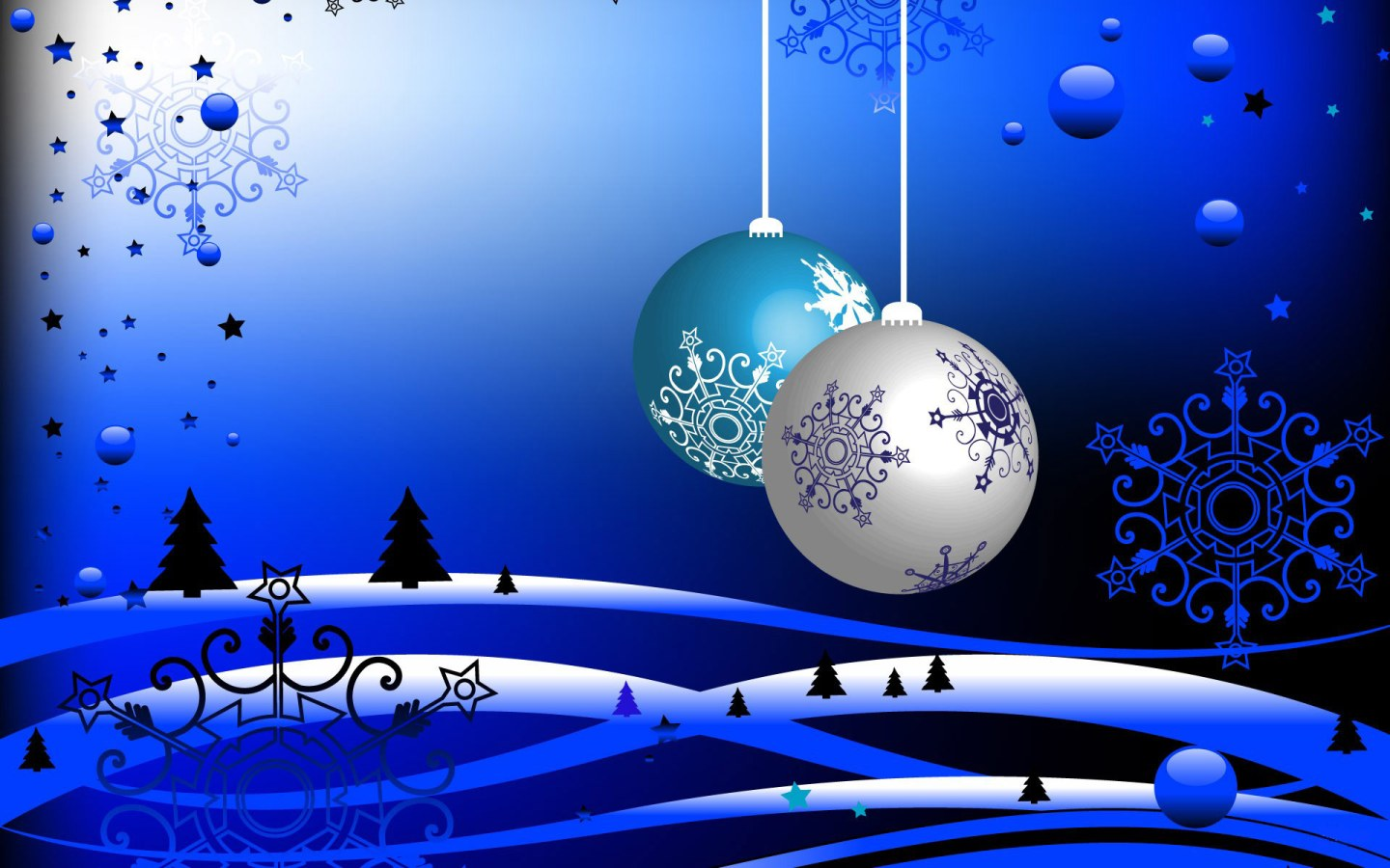Blue Christmas Wallpapers and Screensavers For Windows 7 1440x900