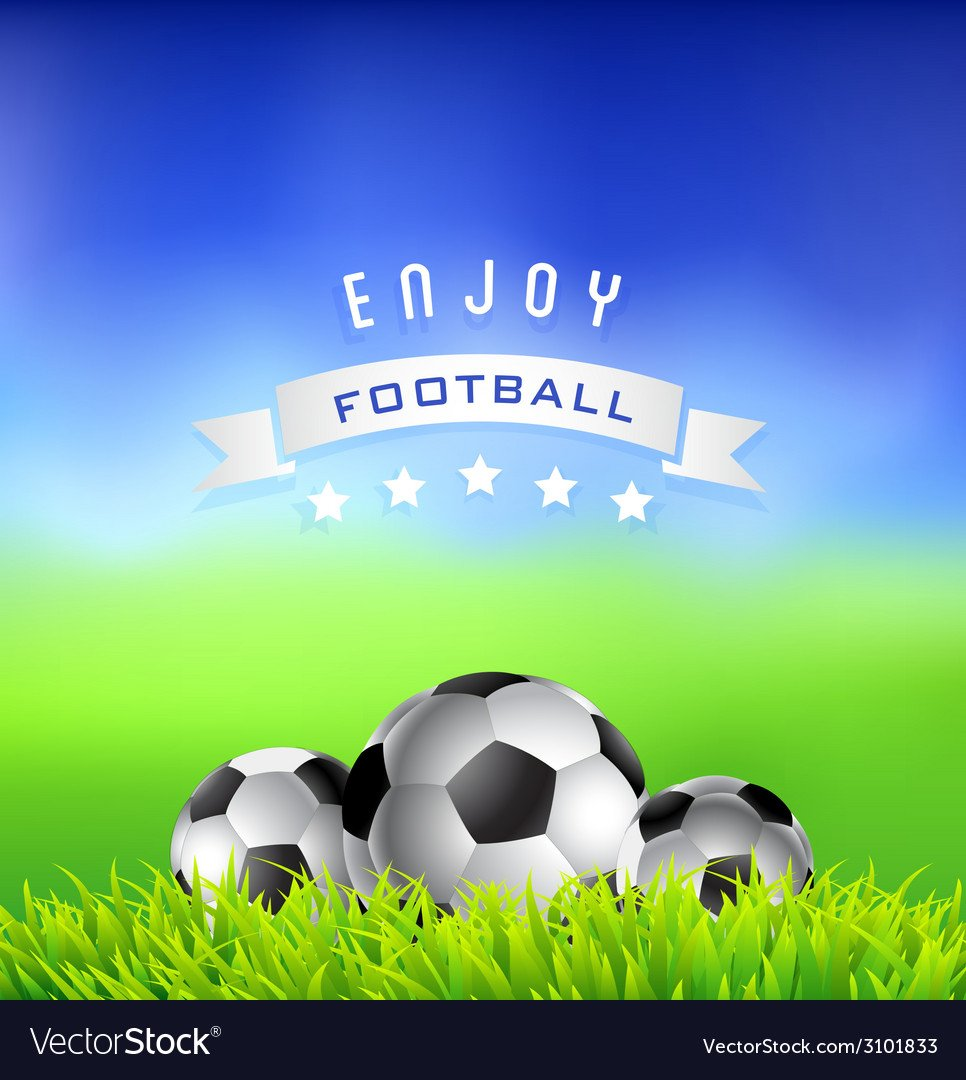 Enjoy Football Time Background Royalty Vector Image 966x1080
