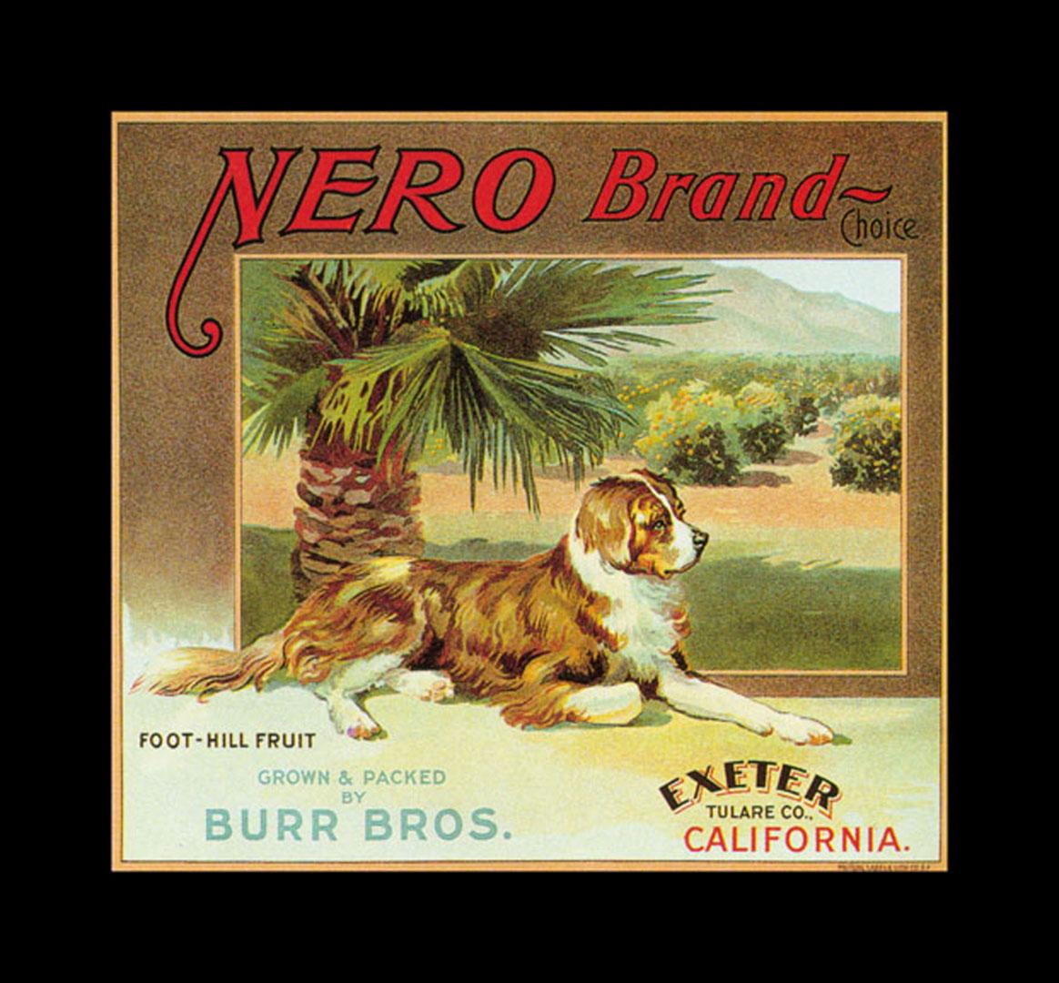 Nero Brand Oranges   Vintage Fruit Crate Labels Wallpaper Image 1164x1080