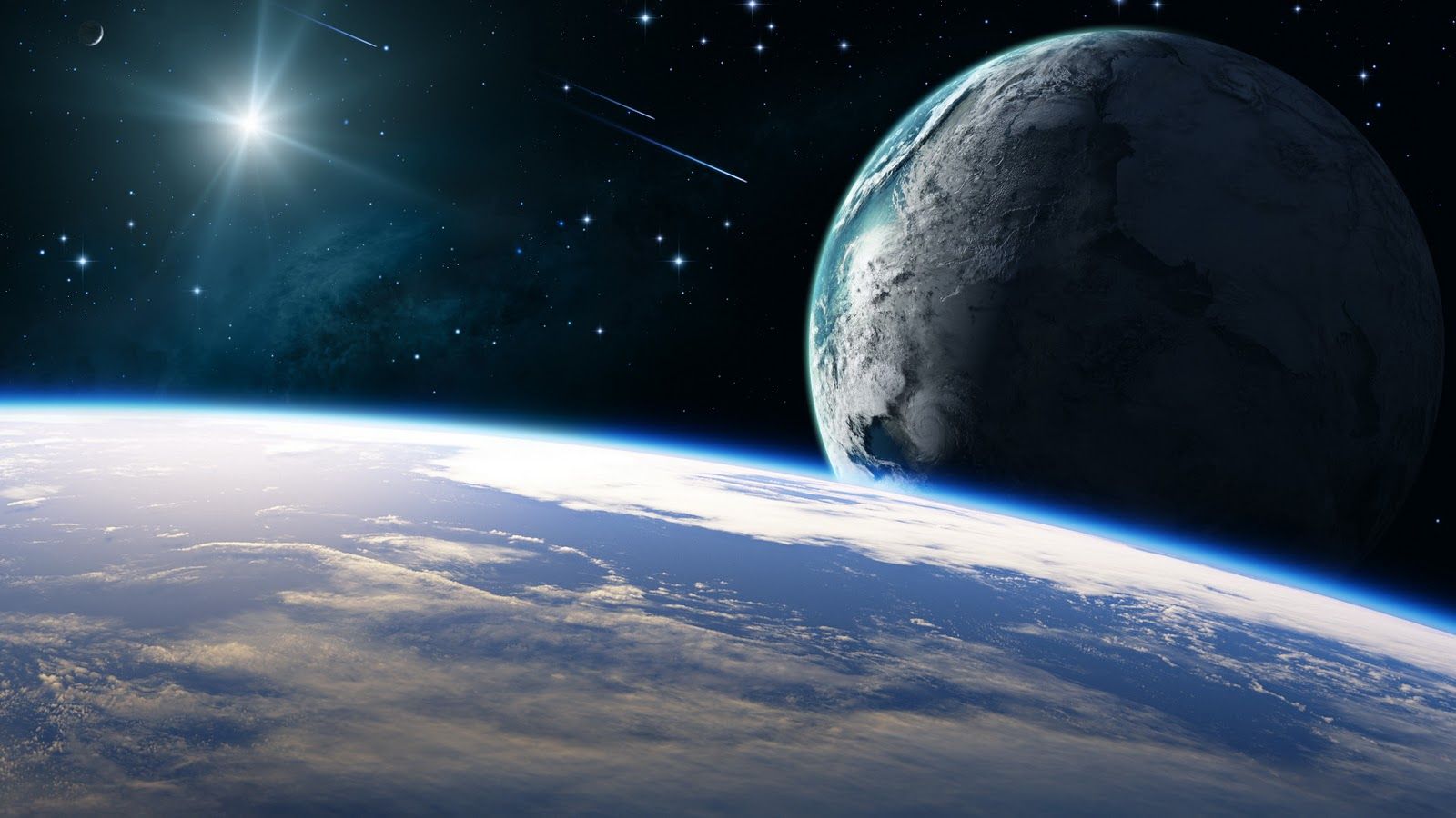 Planet Earth seen from outer space wallpaper The Wallpaper Database 1600x900