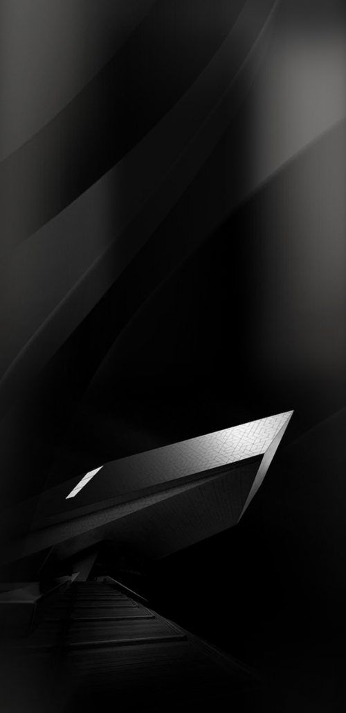 05 of 10 Samsung Galaxy S8 Wallpaper Black and Silver in 3D 500x1028