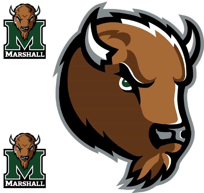 NCAA Marshall Thundering Herd 3 Large Wall Accent Murals Stickers 800x758