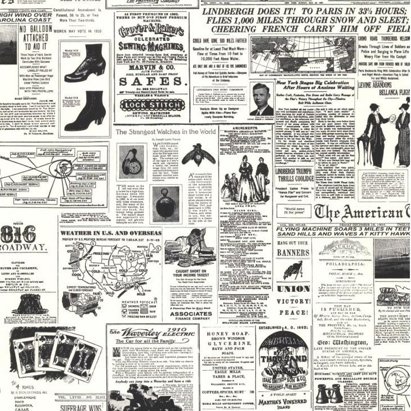 Vintage Newspaper Print Wallpaper   Discount Wallcovering 800x800