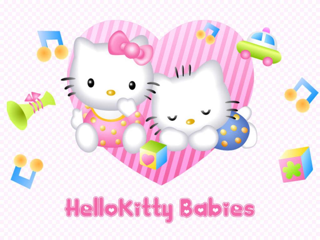 Hello Kitty Babies Wallpaper   Hello Kitty Wallpaper 8303221 1024x768
