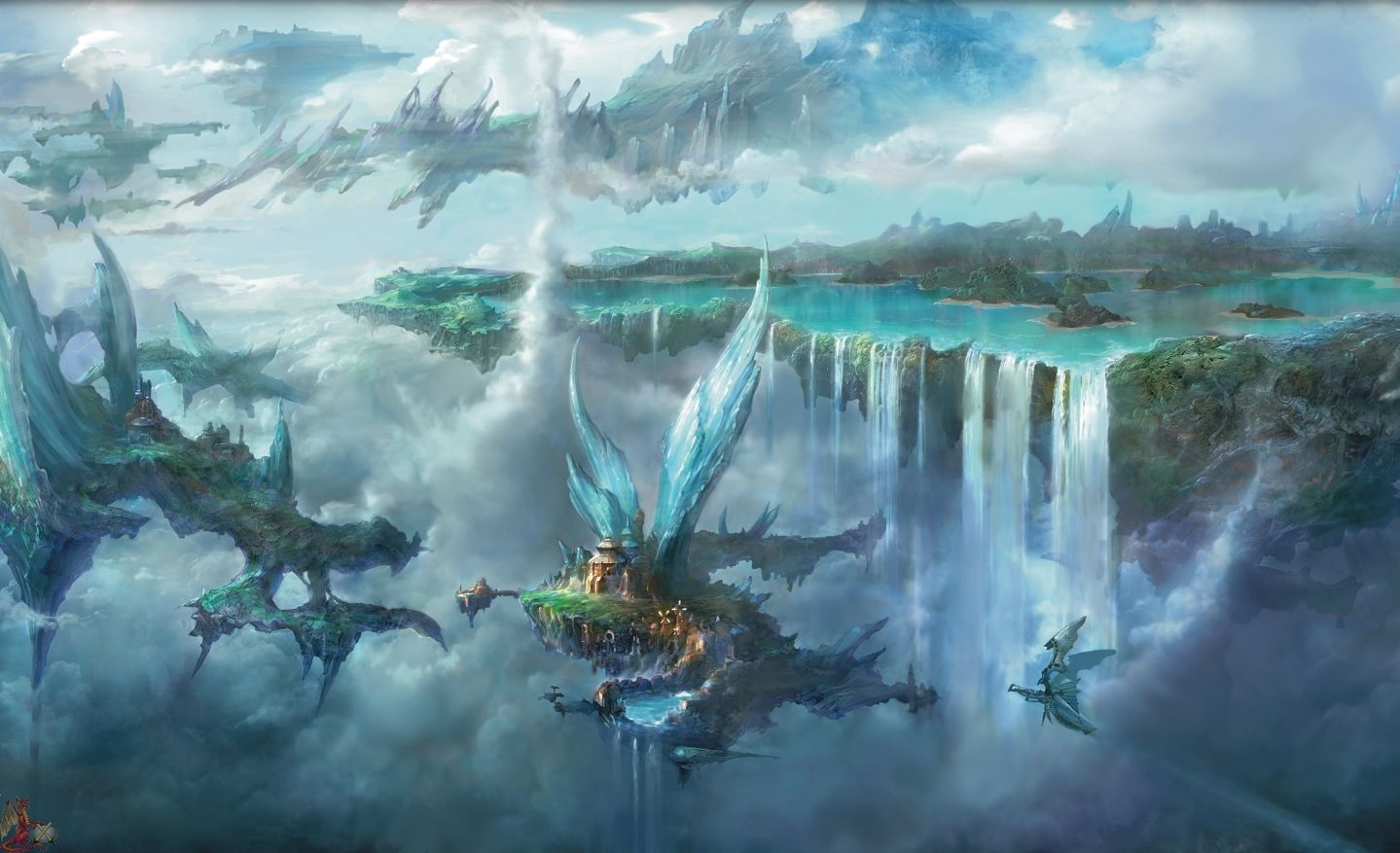 Wallpapers For Final Fantasy Landscape Wallpaper Hd 1439x877