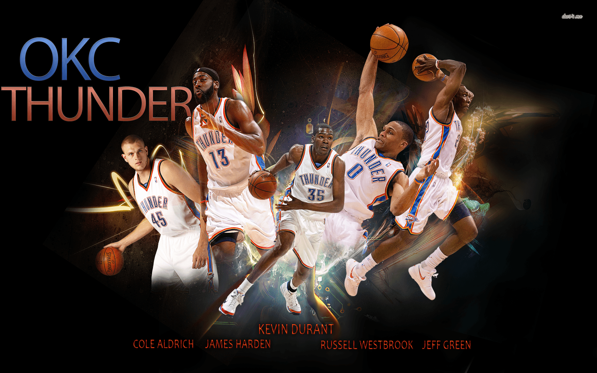 Kevin Durant And Russell Westbrook Wallpapers 2016 1920x1200