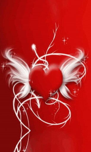 View bigger   Red Heart Wings Live Wallpaper for Android screenshot 307x512