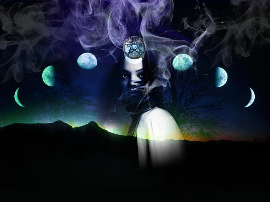 Triple Moon Goddess Wallpaper Triple goddess by sicut felem 900x675
