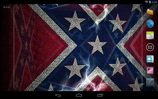 3D Rebel Flag Live Wallpaper   screenshot 640x400