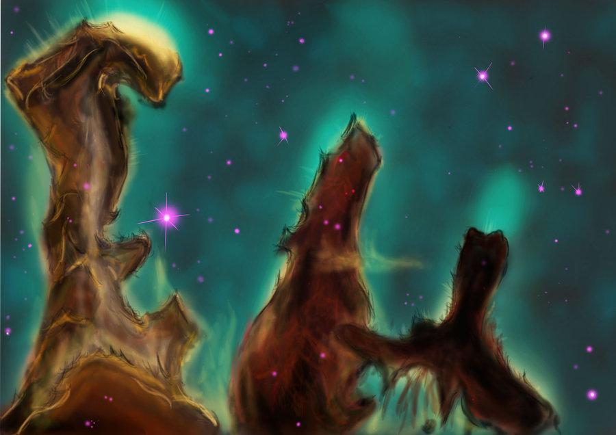 Pillars Of Creation Wallpaper Hd: Hubble Pillars Of Creation Wallpaper