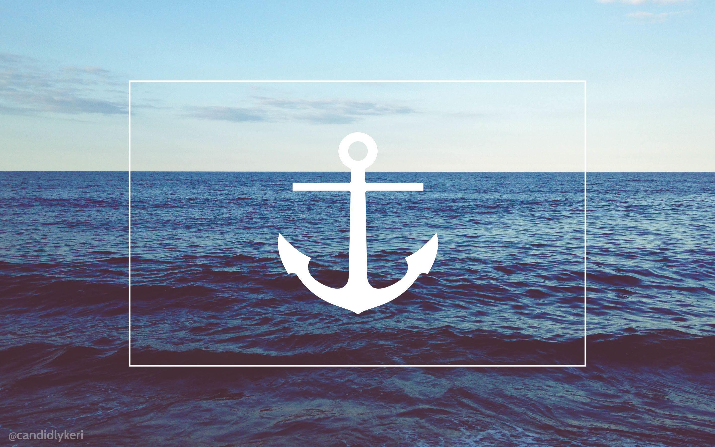 Картинка якорь в море