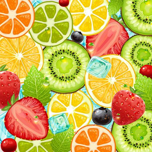 Summer Fruits backgrounds vector 04   Vector Background Vector Food 500x500