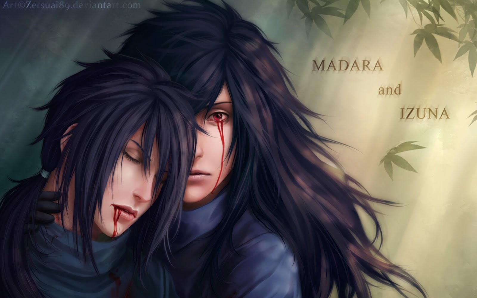 madara uchiha and izuna uchiha anime 1600x1000