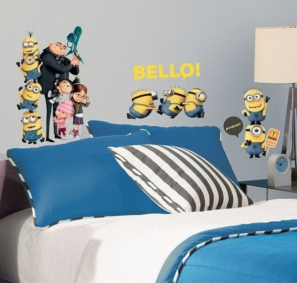 Minion Despicable Me Decorating Inspiration For Kids Bedroom Dream 600x571