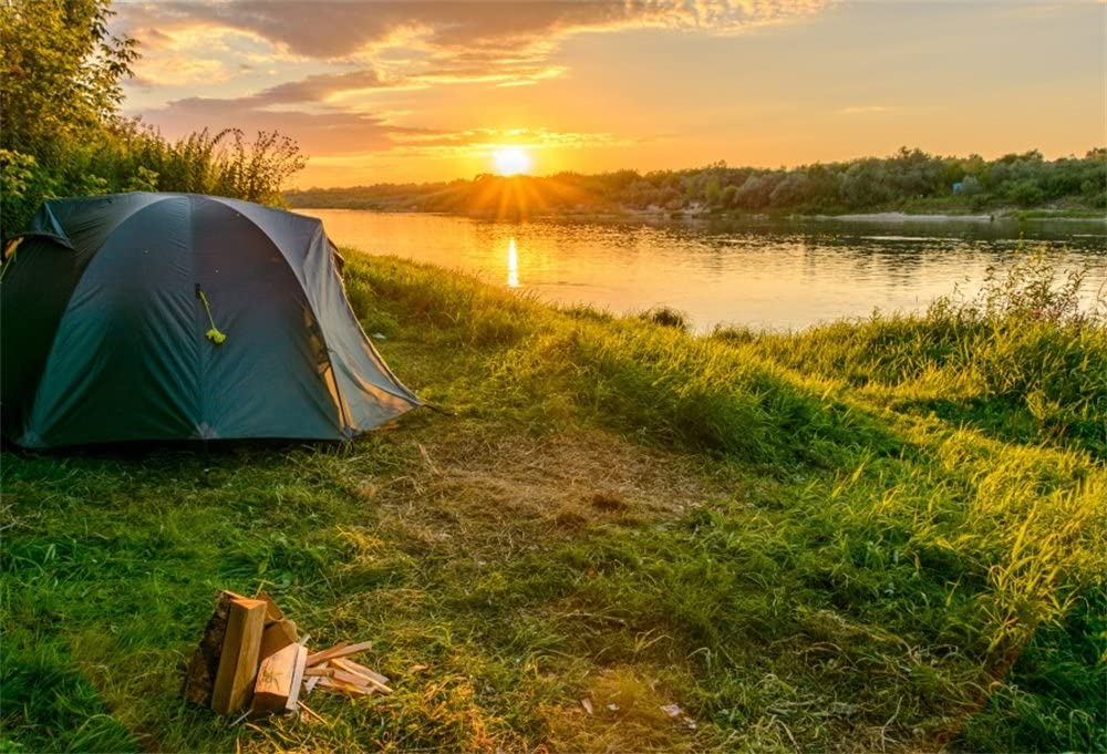 Amazoncom LFEEY 7x5ft Outdoor Riverside Tent Backdrop Camping 1000x681