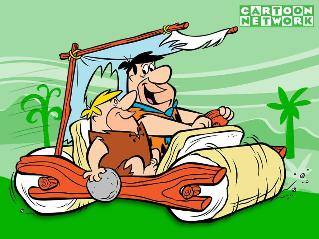 Fred and Barney The Flintstones Flintstone cartoon Old school 1024x768