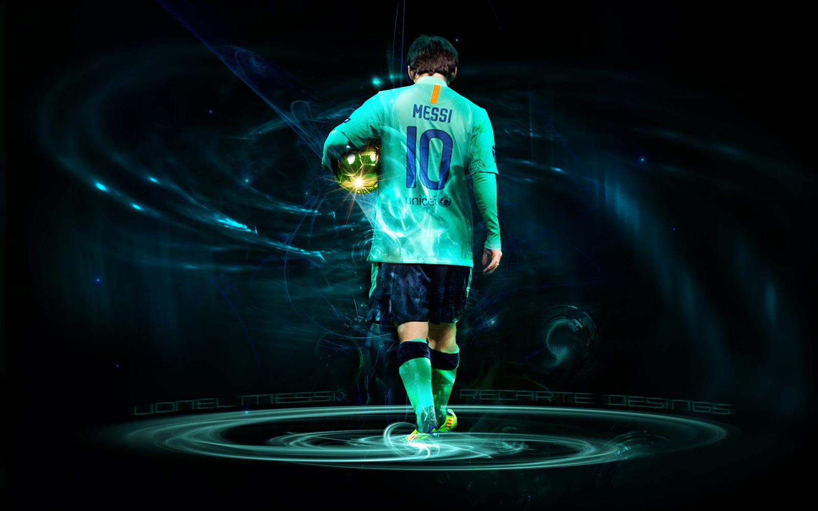 Lionel Messi Logo Wallpaper HD Wallpaper WallpaperLepi 1600x1000