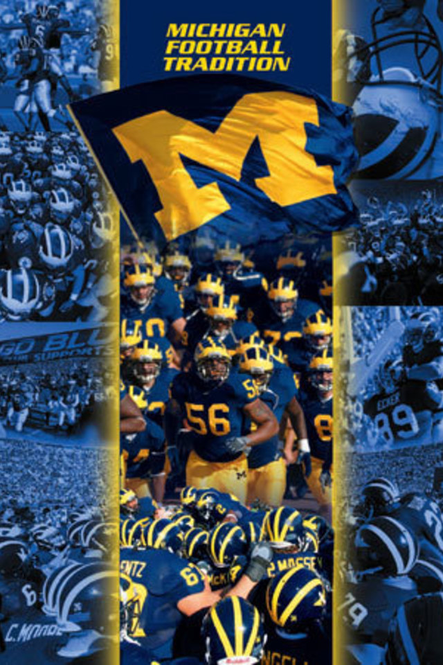 Michigan Football Wallpaper For IPhone 4 640x960