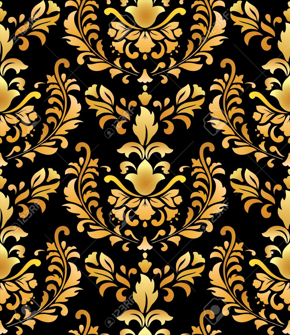 Black And Gold Damask Wallpapers The Art Mad Wallpapers 1127x1300