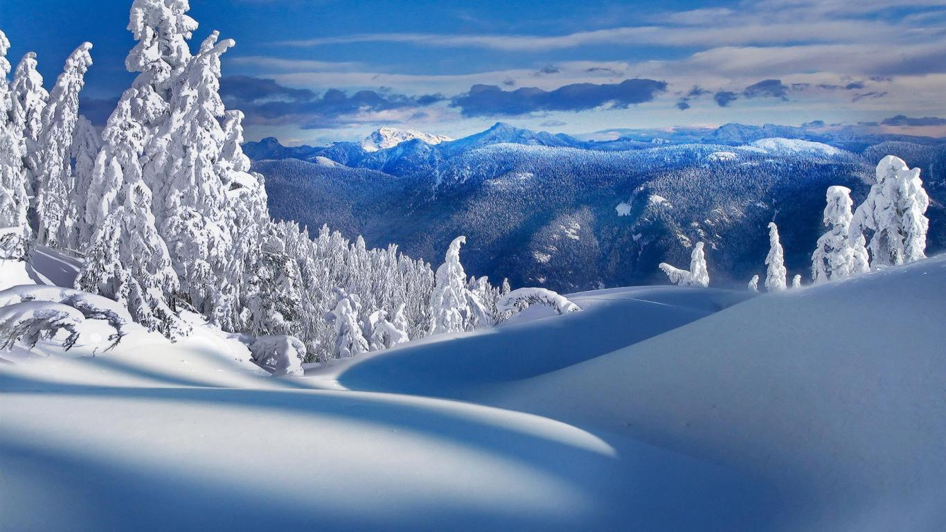 Beautiful Wallpapers Snowfall Wallpaper 1366x768