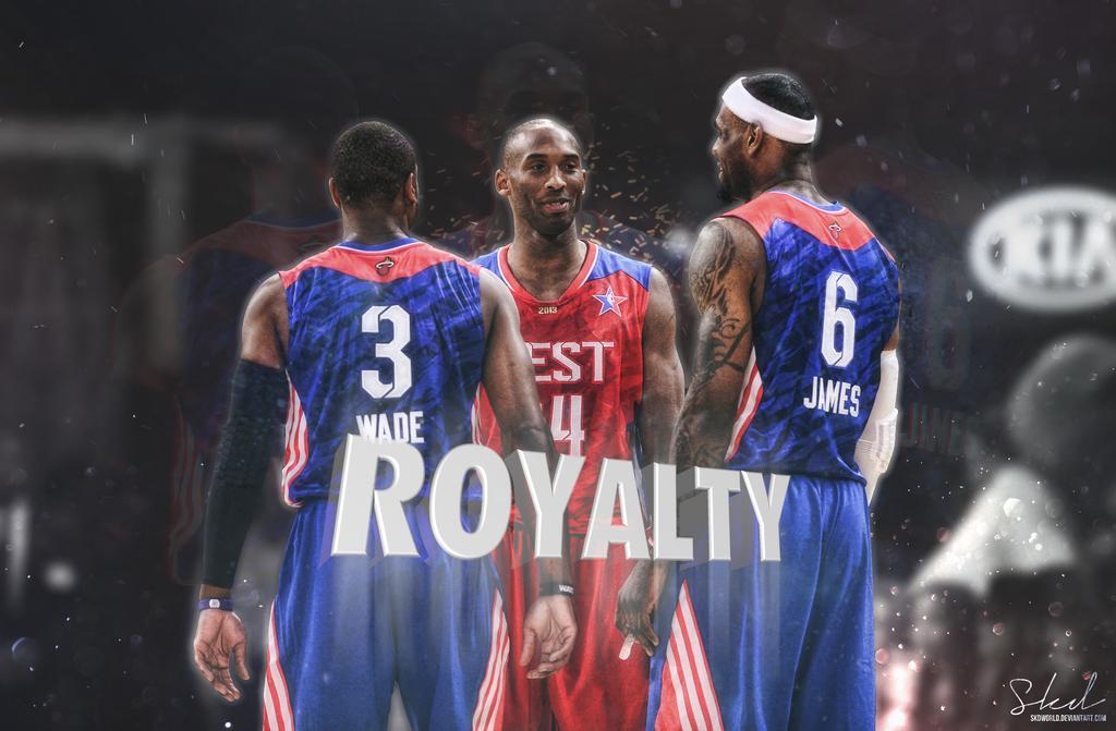 Wade Kobe LeBron Royalty Wallpaper by SkdWorld 1024x671