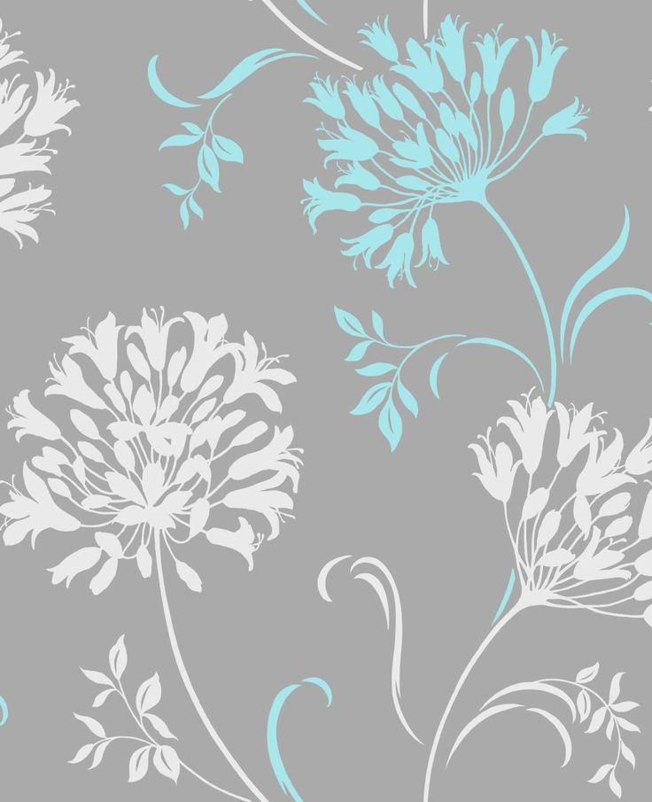 Aqua And Gray Wallpaper Wallpapersafari