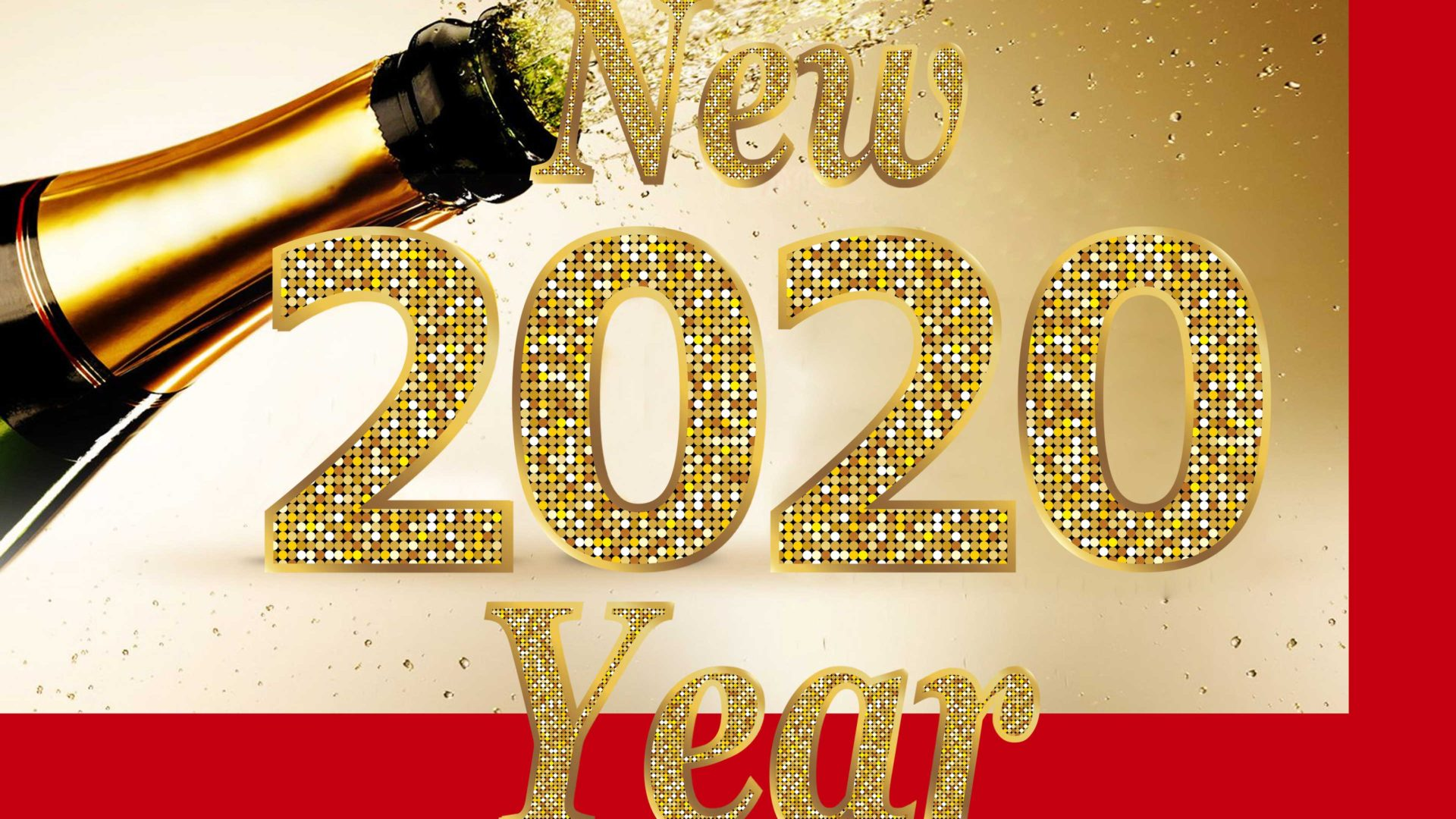 Happy New Year 2020 Sampin Bottle Photo 3d Wallpapers Hd 3840x2400 1920x1080