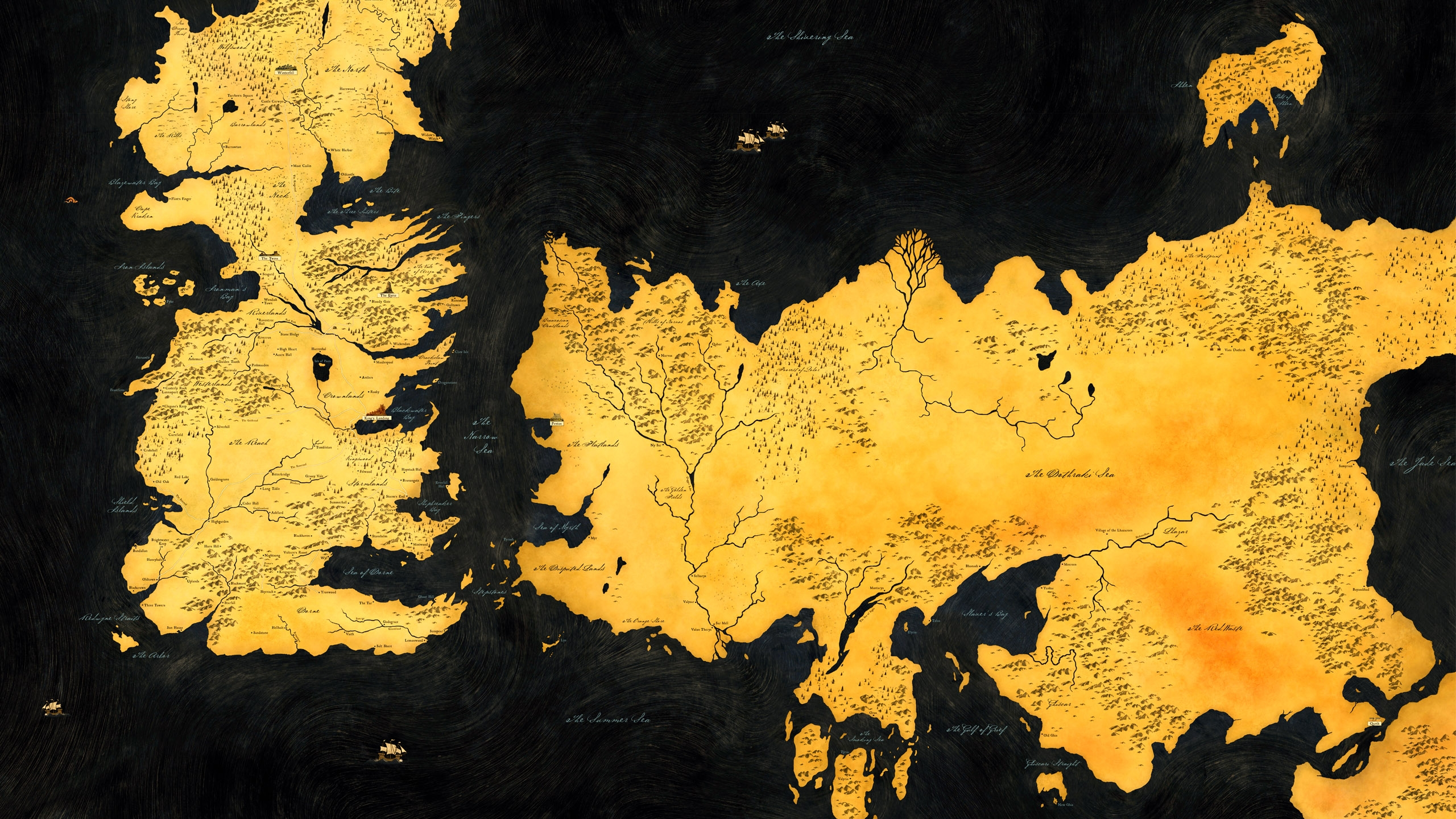Game Of Thrones Map Hd Wallpaper   Facebook Cover   PoPoPicscom 2560x1440