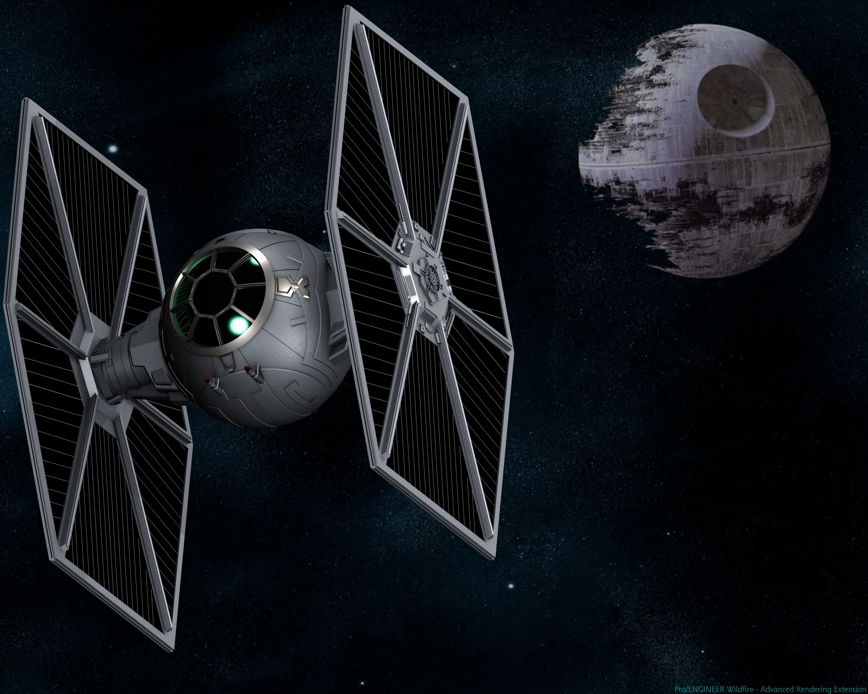 70 Tie Fighter Wallpaper On Wallpapersafari
