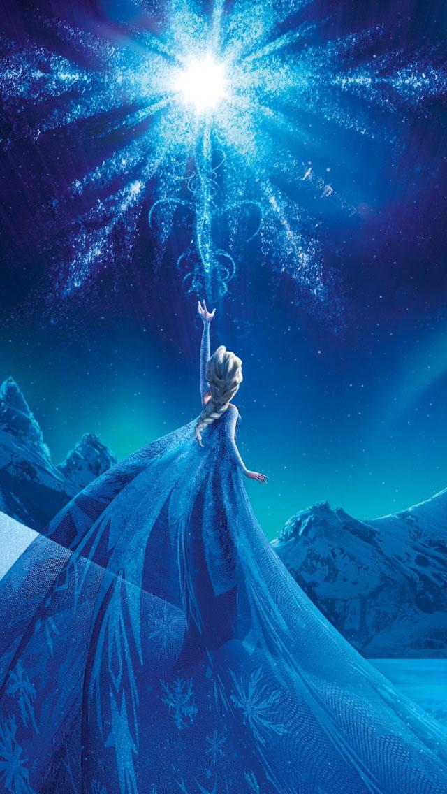 Frozen Elsa Snow Queen Palace iPhone 5 5S 5C Wallpaper 640x1136