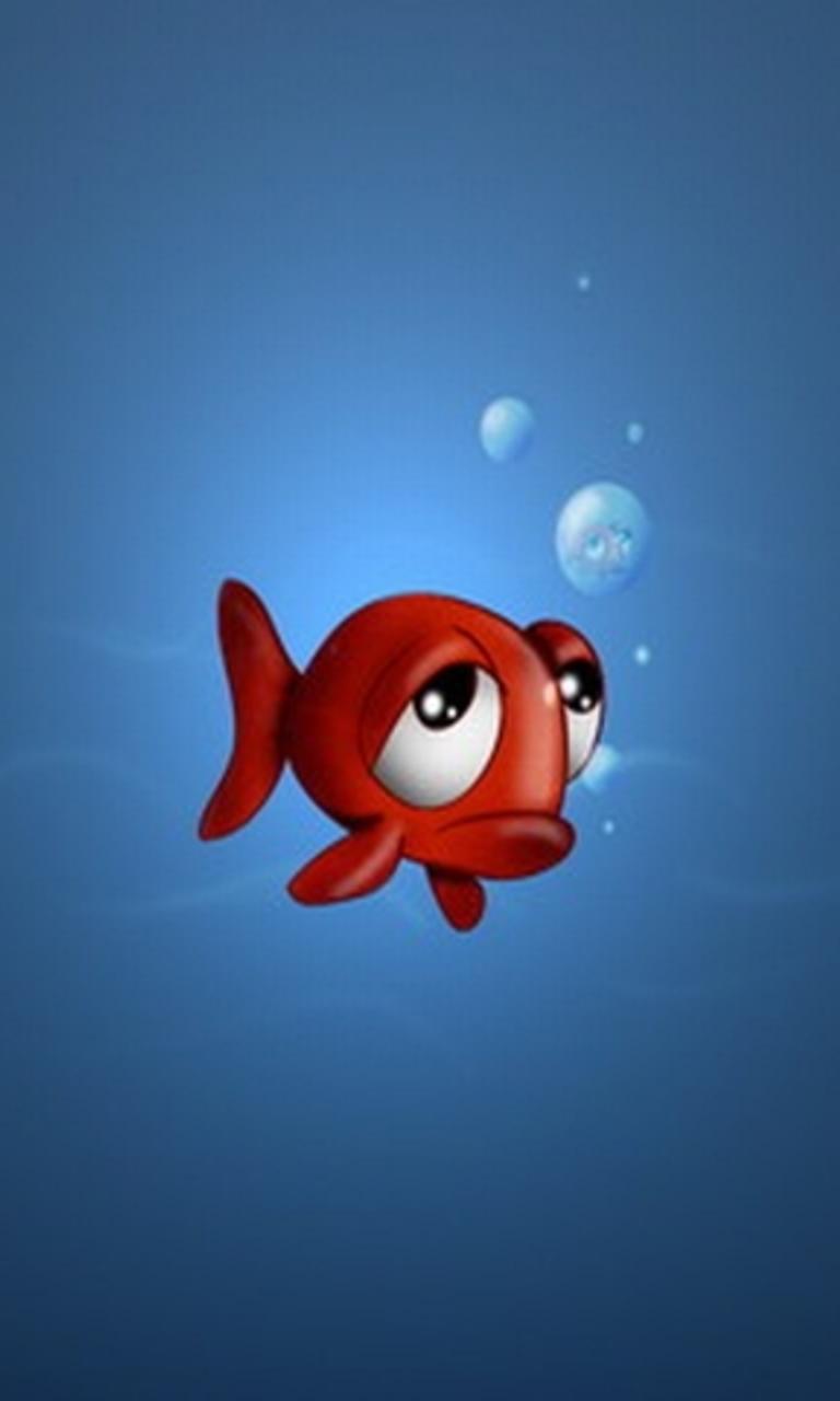 Cute Fish Wallpaper for HTC Windows Phone 8S 768x1280
