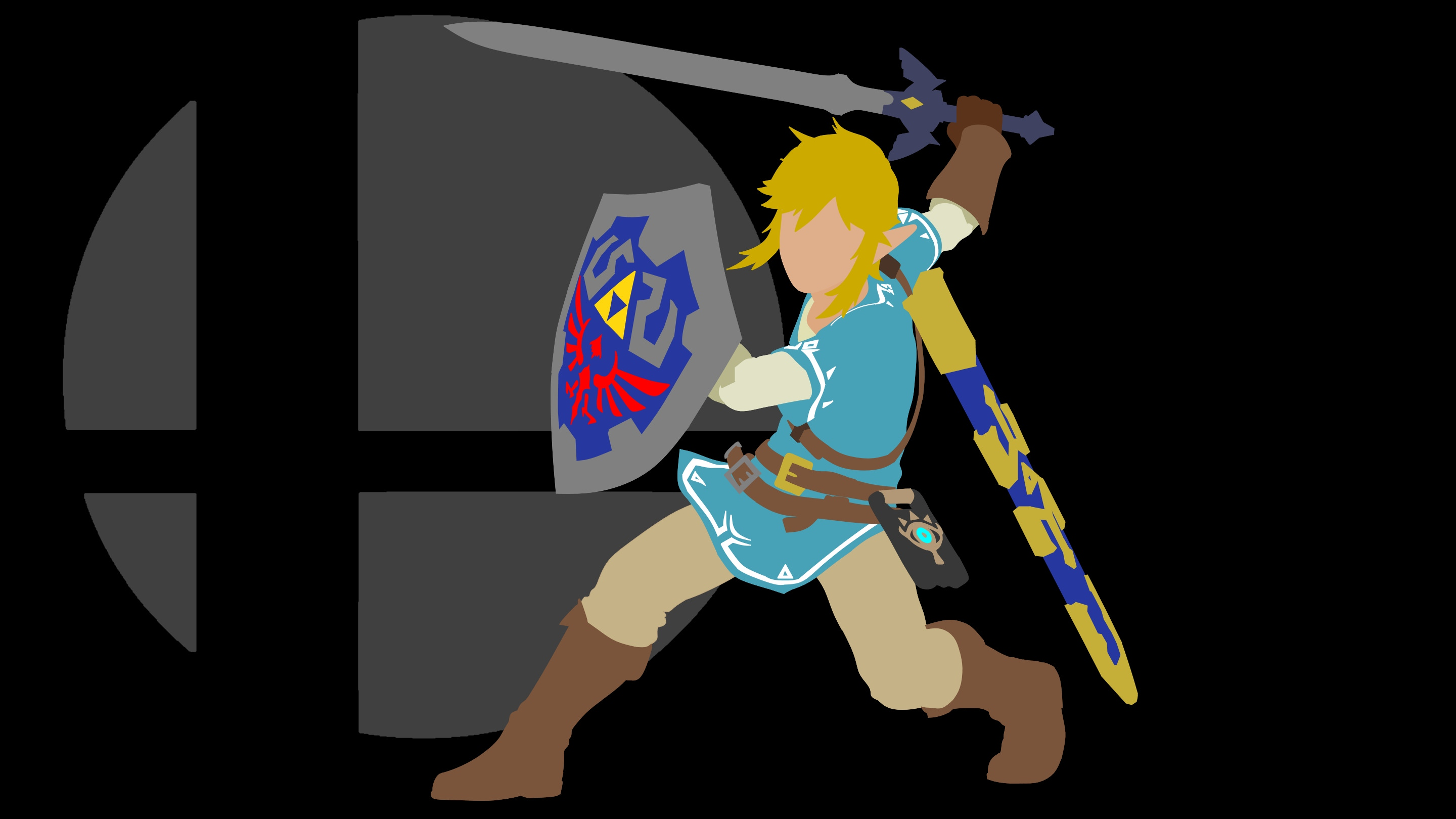 Link Smash Bros Black Background   Album on Imgur 2880x1620