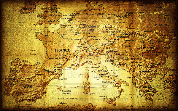 europe old map wallpaperdeviantart  more like old europe map by 600x375