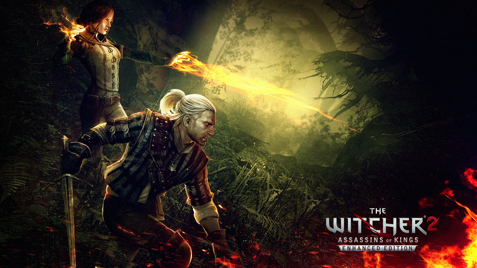 Geralt and Triss Wallpaper from The Witcher 2 Assassins of Kings 1920x1080