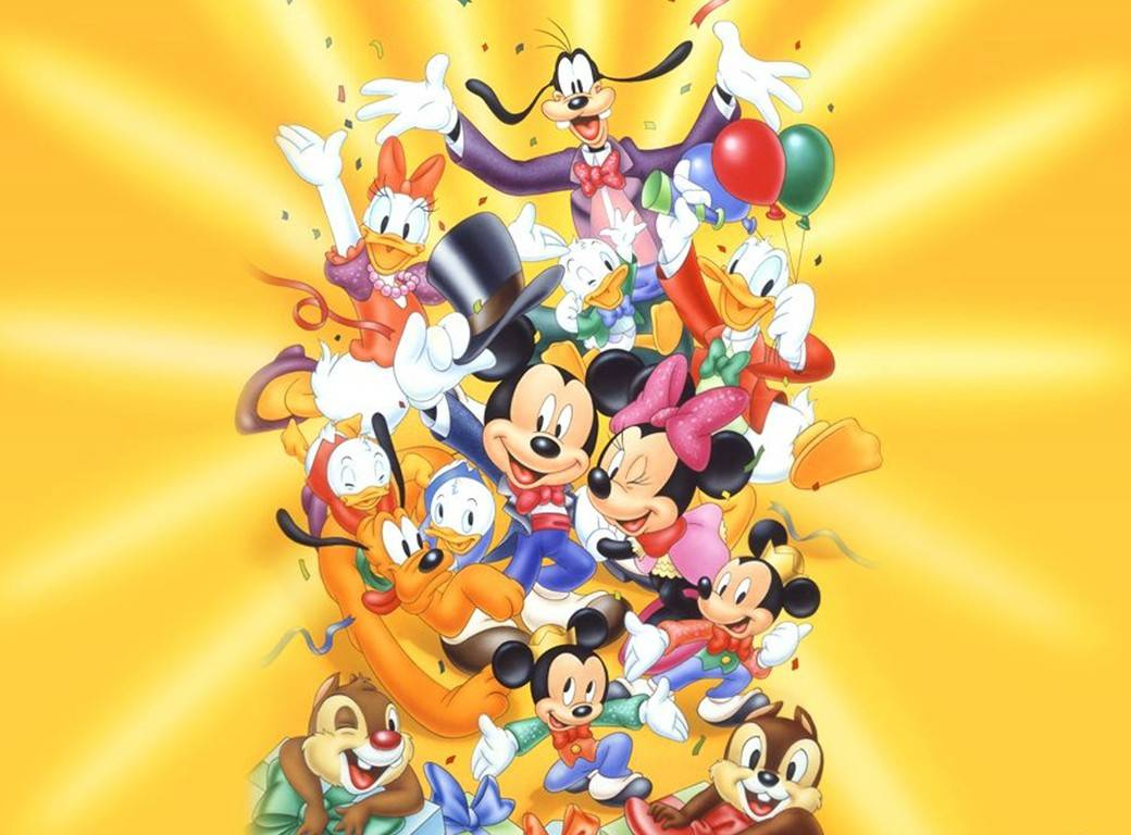 Disney Cartoon Characters Disney Cartoon Character Desktop Wallpaper 1040x768