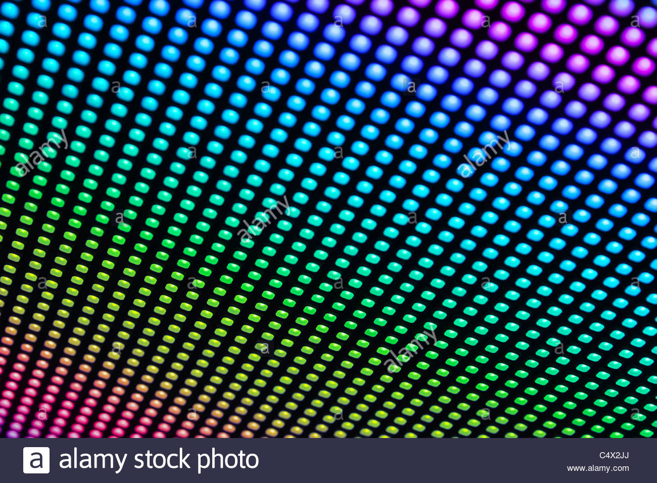 Full color RGB background from LED bulbs being a part of LED 1300x956
