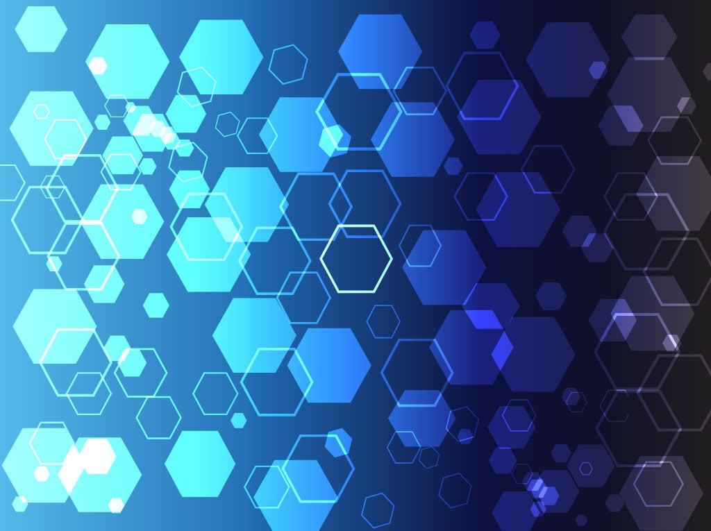 wallpaper blue hexagon white - photo #45