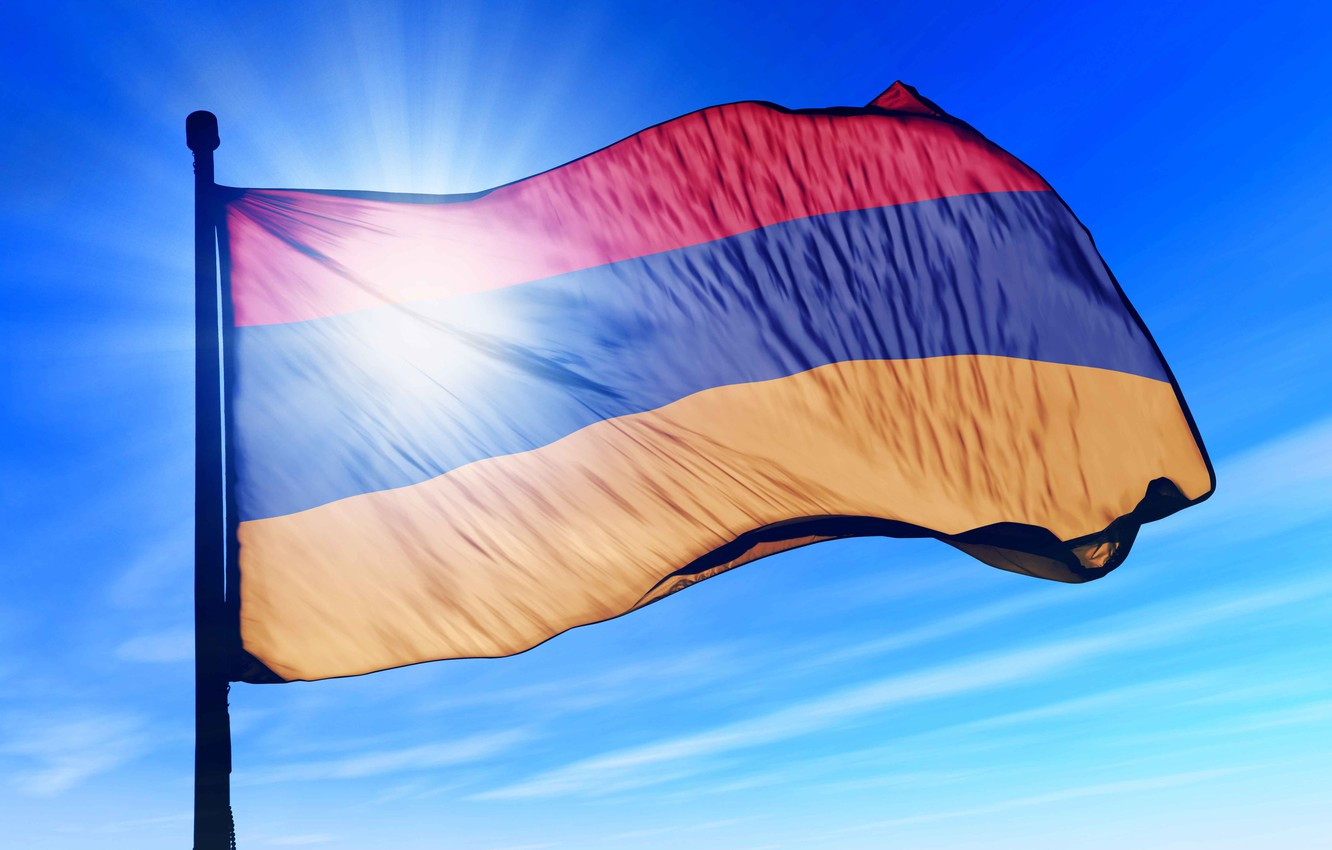 Wallpaper Armenia Hayastan fliag armenian flag images for 1332x850